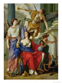 Allegory of the Regency of Anne of Austria Giclee Print by Laurent de La Hyre