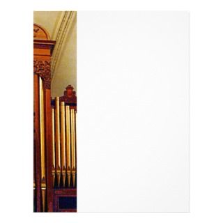 Church Organ Letterhead Template