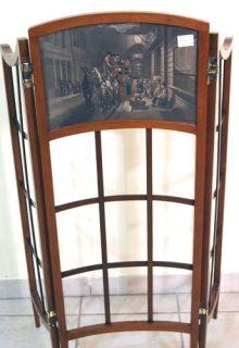 WIENER KLEINER JUGENDSTIL PARAVENT ART NOUVEAU FOLDING SCREEN UM 1900