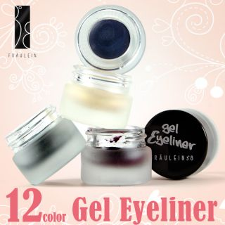 Fräulein3°8 12 Colors Gel Cream Eyeliner Set Eyeshadow Winter Metal