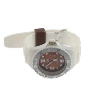 Unisex Silicone Rubber Quartz Jelly Gel Sport Analog Wrist Watch