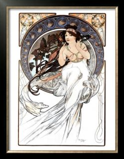 Close up of Flute Keys Prints by Alphonse Mucha