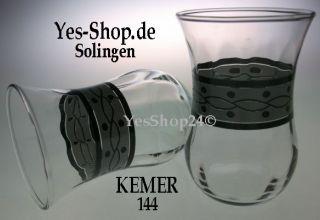 Türkische Teegläser KOMBI Set Glass 20Tlg KEMER 144 NEU