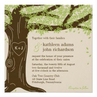 Oak Tree Wedding Invitation invitation