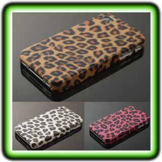 APPLE IPHONE 4 FELL CASE Cover Hülle Leopard Zebra Tasche