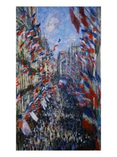 The Rue Montorgeuil, Paris, 30 June 1878 Giclee Print by Claude Monet