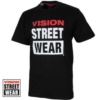 Vision Street Wear Logo Tee schwarz Gr S Streetwear Skateboard T Shirt