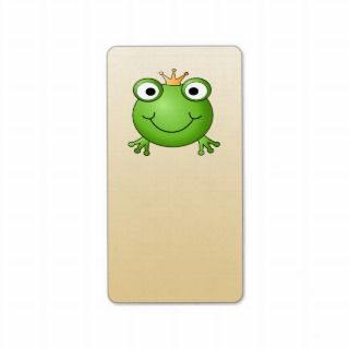 Frog Prince. Smiling Frog with a Crown. Personalized Address Labels