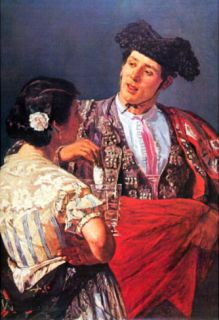 Mary Cassatt Torero and Young Girl Art Print Poster Masterprint