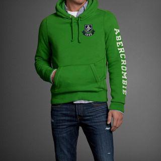Abercrombie Fitch Herren Hoodie Sweatshirt Hollister Grün Neu Sweater