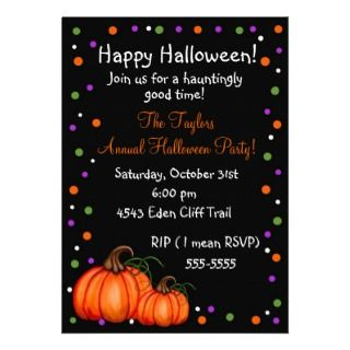 Pumpkin Halloween Party Invitations