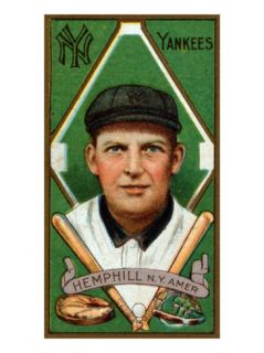 New York City, NY, New York Yankees, Charles Hemphill, Baseball Card Posters