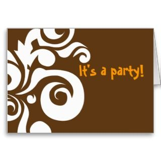 Brown Hawaii editable invitation Card