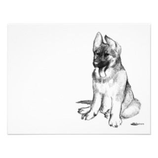 German Shepherd Puppy Personalized Announcements