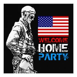 Welcome Home Soldier Party 2 Invitation invitation