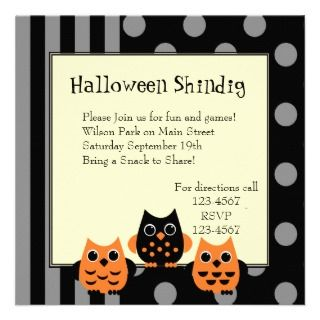 Halloween Owls Announcement