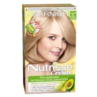 Garnier Nutrisse Creme Pflegende Intensiv Coloration, 91 Natur