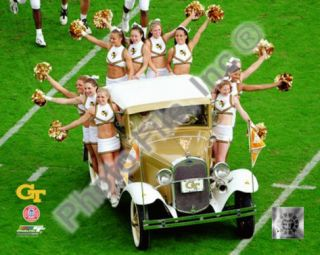Georgia Tech University Yellow Jacket Cheerleaders ride the Rambling Wreck 2004 Photo