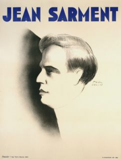 Jean Sarment Collectable Print by Paul Colin