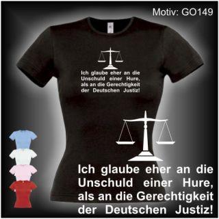 Deutsche Justiz   Damen FUN T SHIRT XS XL (GO149)