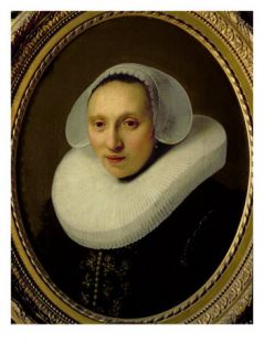 Portrait of Cornelia Pronck, Wife of Albert Cuyper, at the Age of 33, 1633 Giclee Print by Rembrandt van Rijn