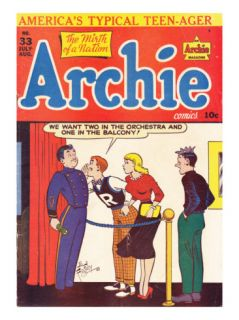 Archie Comics Retro Archie Comic Book Cover #33 (Aged) Prints by Al Fagaly