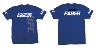 Ultimate Fighter TUF 15 Team Uriah Faber Royal Blue UFC T shirt New