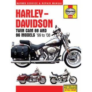 Harley Davidson Twin CAM 88 and 96 Models 99 08 (Haynes Service