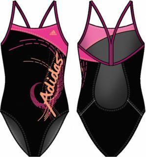 ADIDAS Kinder Badeanzug Graphic Lineage Suit Girls Gr 164 schwarz pink