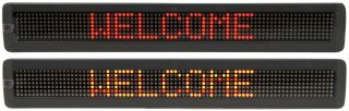 153.112UK QTX Light 7 x 120 Red LED Moving message display MKII