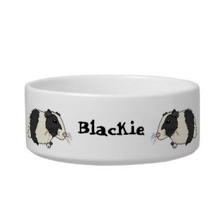 Cute Cartoon Guinea Pigs Personalized Pet Bowl Cat Bowls