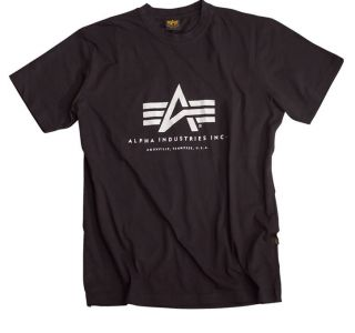 ALPHA INDUSTRIES Basic T Shirt   Black