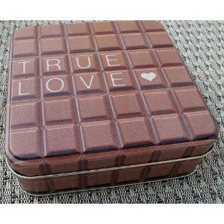 Gawol Design Metalldose 107x107mm TRUE LOVE Schokolade