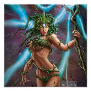 Grimm Fairy Tales #60A Druanna Cradling The Earth Poster