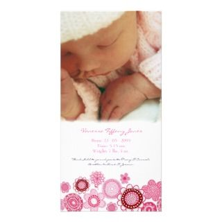 Baby Birth Announcement Custom Made Photo Card