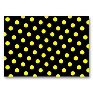 Black and Yellow Polka Dots Business Cards