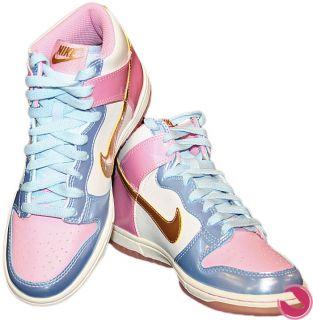 Nike Dunk High (GS) 316604 172 weiß / rosa Gr. 36  US 4