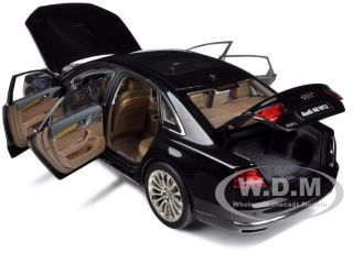 AUDI A8 L W12 NIGHT BLACK 1/18 DIECAST CAR MODEL BY KYOSHO 09231