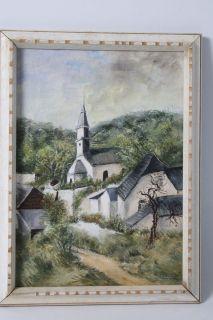 Remco BEEKERS (XX) Rue de Ouz mi Kirche Ölgemälde um 1950 im
