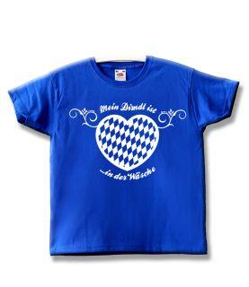Kinder T Shirt 92 164 Mein Dirndl ist in der Wäsche   Oktoberfest