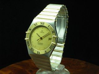 OMEGA CONSTELLATION 18kt GOLD / EDELSTAHL CHRONOMETER AUTOMATIC