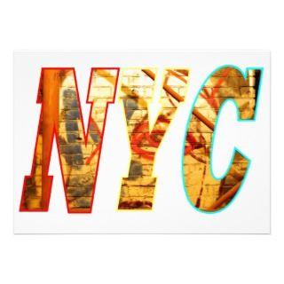 wall in Brooklyn, New York City Custom Announcements