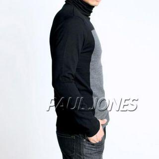PAUL JONES Men Stylish Slim Fit Turtleneck Knit Sweater cardigan
