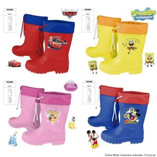 Kinder Regenstiefel Gummistiefel Disney Gr. 23 24 25 26 27 28 29 30