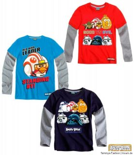 Angry Birds Star Wars Langarmshirt Gr.104 152, 6 STYLES neue