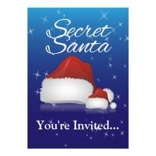 Secret Santa Personalized Invitations
