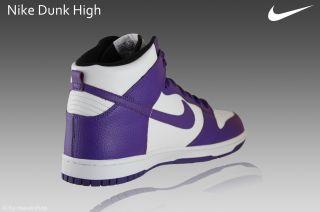 Nike Dunk High Schuhe Gr.44,5 Sneaker weiß/lila Leder Air Max 317982