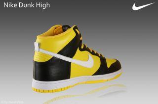 Nike Dunk High Schuhe Neu Gr.45 schwarz/gelb Sneaker Leder 317982 703