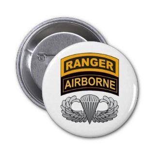 Basic Airborne Wings Ranger/Airborne Tab Pins