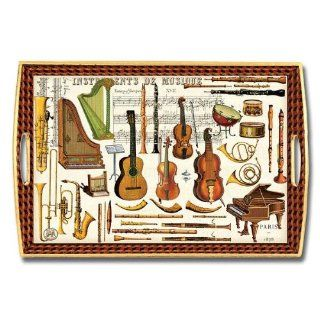Michel Design Works Musical Instruments Decoupage Holztablett WT121